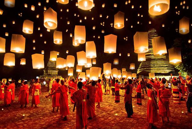 Săn giá vé máy bay đi Thái Lan tham dự lễ hội hoa đăng