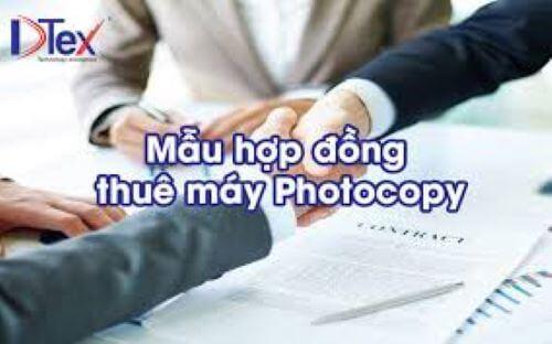 Hợp đồng thuê máy photocopy